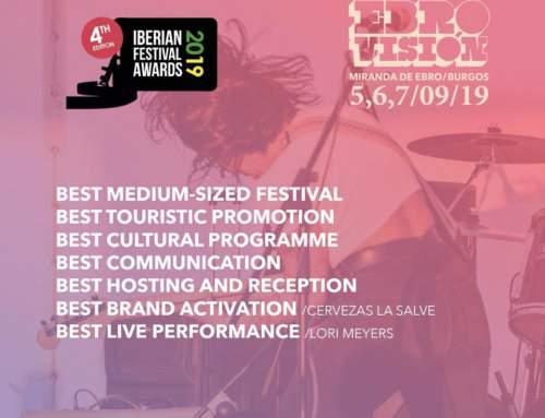 ¡¡7 nominaciones Ebrovisión en los Iberian Festival Awards!!
