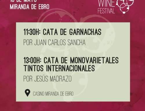 Catas y bodegas confirmadas en Miranda Wine Festival