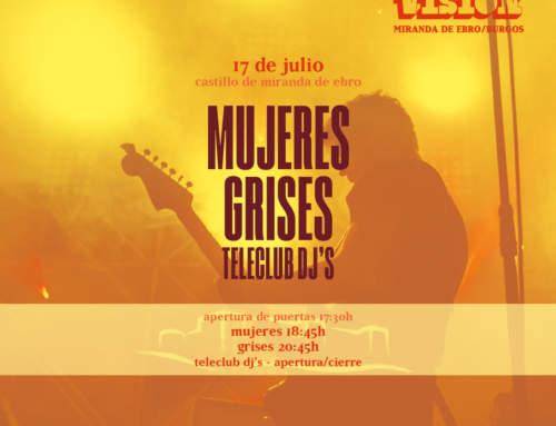 Mujeres, Grises y Teleclub DJ's actuarán este sábado en la edición especial de Ebrovisión 2021